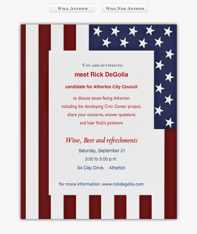 Rick DeGolia's Invitation for you to join him on September 21st, between 3:00 and 5:00 pm